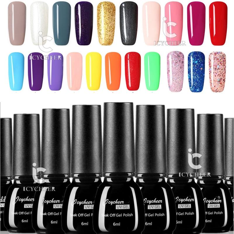Aliexpress.com : Buy ICYCHEER Nail Polish Set Glitter Nail Lacquer ...