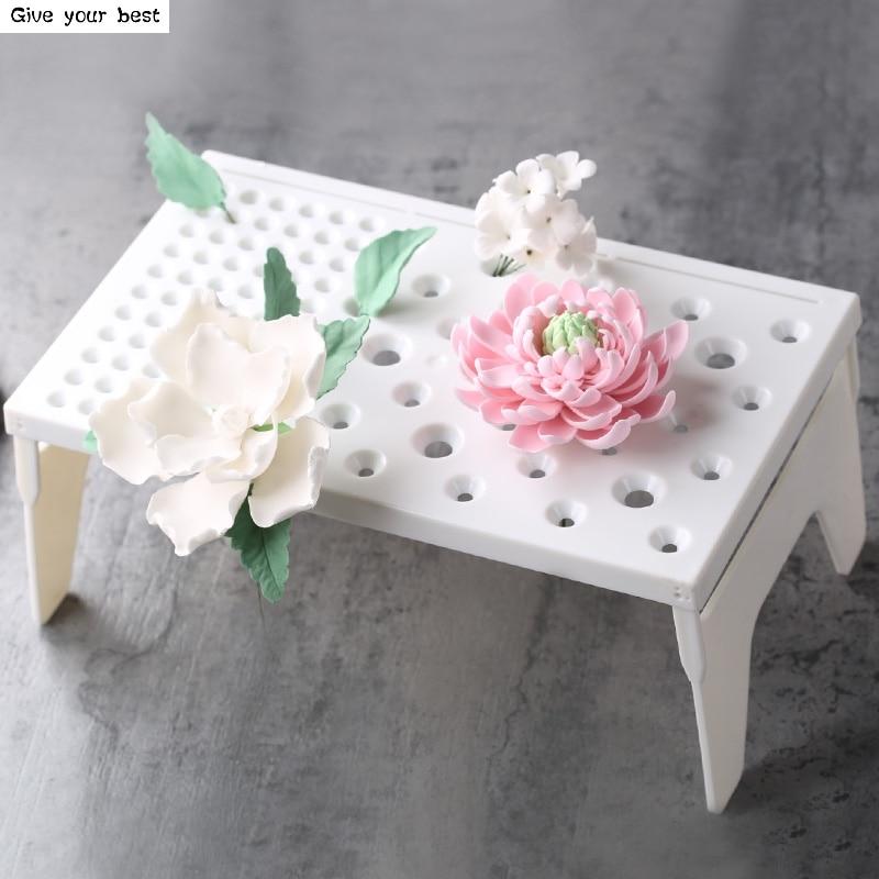 Fondant Cake Tools Fondant Virágformázó Pad Fagyasztott cukorszárító állvány A torta formák a konyhai sütéshez