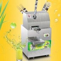 Espremedor de cana de açúcar elétrica máquina de cana de açúcar de aço inoxidável extrator de cana de açúcar