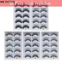 MB 25 paryż/lot rzęsy 3D Mink fałszywe rzęsy Crisscross Mink Lashes miękkie dramatyczne rzęsy puszyste pełny makijaż oczu lash
