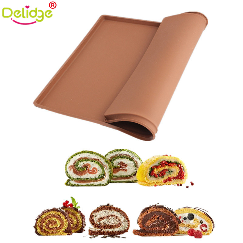 Delidge 1 Pc Cake Roll Mat Silicone Non Stick Swiss Roll