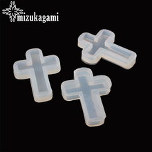 1pcs UV Resin Jewelry Liquid Silicone Mold Cross Pendant Resin Jewelry Molds For DIY Necklace Pendant Charms Making Jewelry