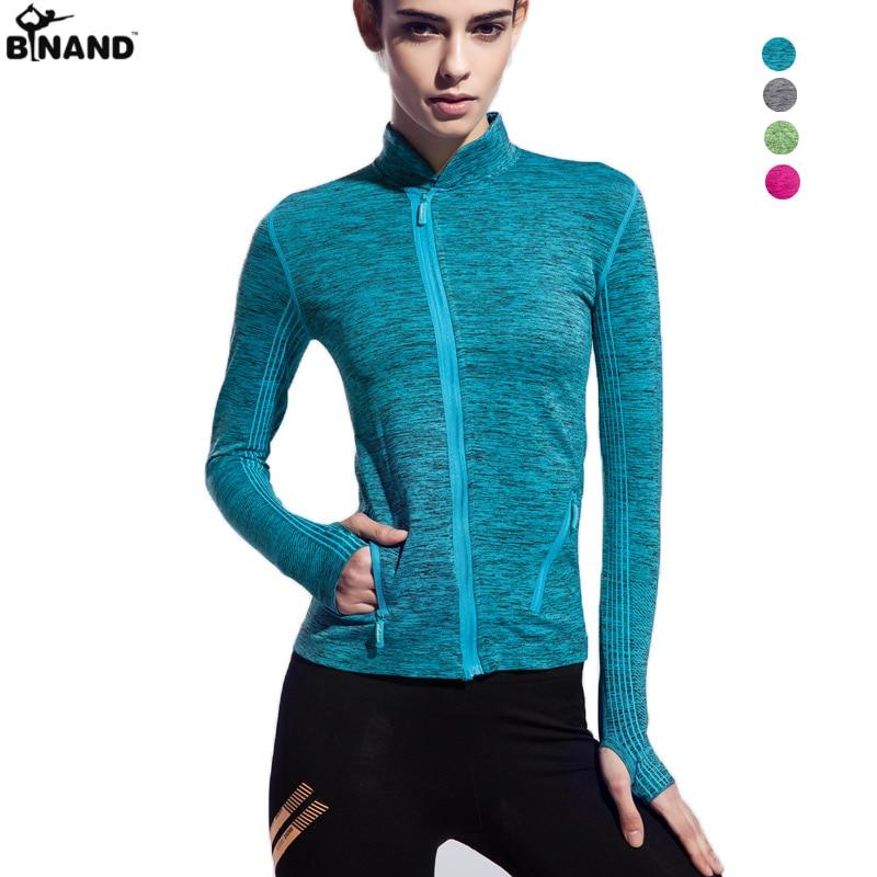 Women 39 s yoga shirts long sleeve running shirts tops for Long sleeve running shirt womens