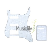 Musiclily 4Ply HSS Pickguard & Back Plate For US/Mexico Standard FenderStrat ST Modern Guitar