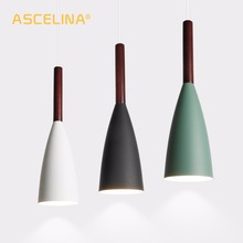 Industrial Pendant Light Nordic LED Lamp Loft Wooden Modern Creative Simple for living room bedroom study Restaurant lighting creative living room rectangular lamp loft hotel office lighting simple modern personality industrial style art chandeliers led