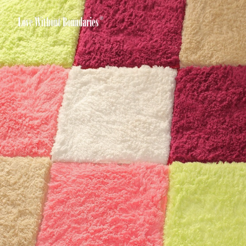 Long Hair Carpet for modern Living Room Door Puzzle Mat Baby Crawling Cutting Area Rug Kids Gym Play mat Tatami rug