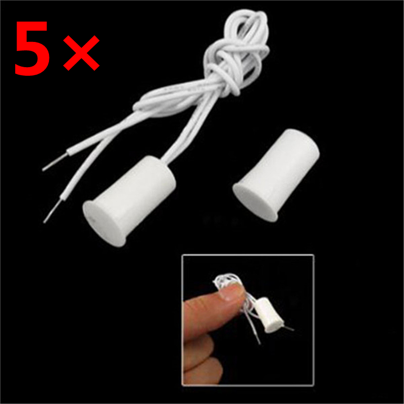 5 Pair Wired Door Window Sensor Recessed Magnetic Contacts Security Reed Switch font b Alarm b