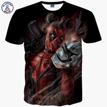 2017 Mr.1991INC New Fashion helmet Comic Badass Deadpool T-Shirt Tees Men/Women Cartoon Characters 3d t shirt Summer Tops Tees