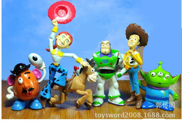 free shipping 6pcs set toy story cartoon pvc action figure toys for