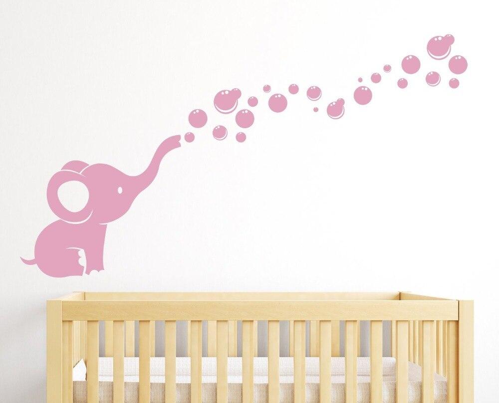 Ziloņu burbuļu bērnudārza sienas dekoru istabas dekors - Mājas dekors - Foto 3