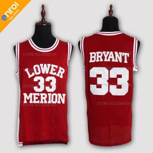 a5c608cea6ff ... throwback 33 basketball jerseys for man kobe bryant high school lower  merion red