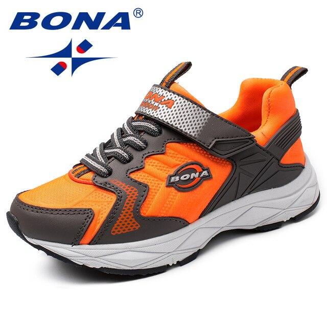 BONA Yeni Popüler Tarzı Çocuk rahat ayakkabılar Kanca ve Döngü Kızlar Ayakkabı Sentetik Erkek Loaferlar Açık Moda Spor Ayakkabı