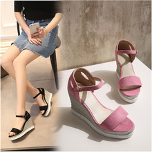Large Size 34-43 Lady Shoes Women Pumps 2016 Brand New Fashion Summer Style High Heel Wedges Casual shoes woman zapatos mujer