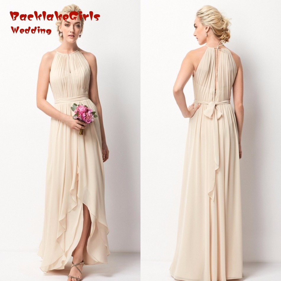 Maid of honor gown picture more detailed picture about chiffon chiffon bridesmaid dresses long cheap wedding guest dresses chiffon blush bridesmaid dresses maid of honor gown ombrellifo Images