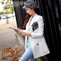 dabuwawa autumn 2016 women's new fashion elegant handsome white jacket female blazer women pink doll pink doll