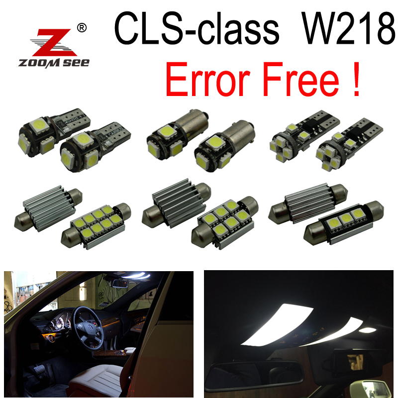 22pc x Canbus Error Free LED lamp Interior dome Light Kit Package For Mercedes Benz CLS C218 W218 CLS550 CLS63 AMG (2011+) 27pcs led interior dome lamp full kit parking city bulb for mercedes benz cls w219 c219 cls280 cls300 cls350 cls550 cls55amg