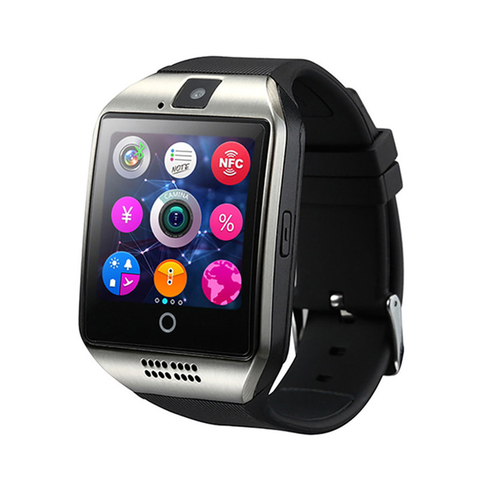 Men Smart Watch Q18 Support Sim TF Card Phone Call Push Message Camera Bluetooth Connectivity Smartphone For Android IOS PK DZ09