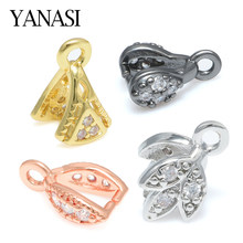 Buckle Jewelry Findings Accessories for Earring Jewelry DIY Crystal Agate Pendant Clasp Connectors Pinch Clip Bail Necklace(China)
