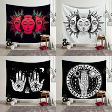 Винтаж солнце и луна в виде индийской мандалы гобелен настенный