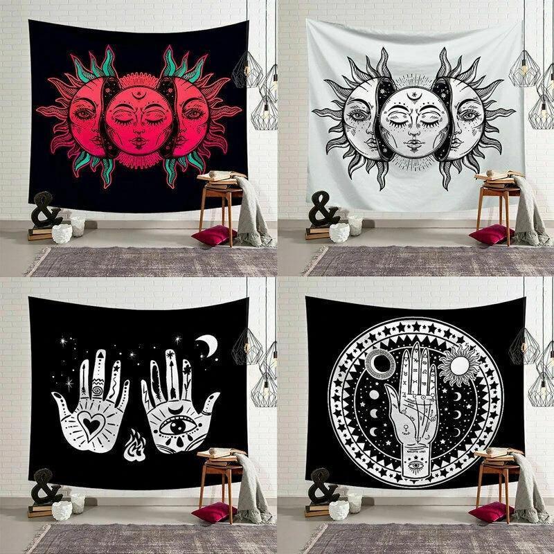 Mandala Tapestry Wall Hanging Hippie Bedspread Blanket Beach Mat Home Art Decor