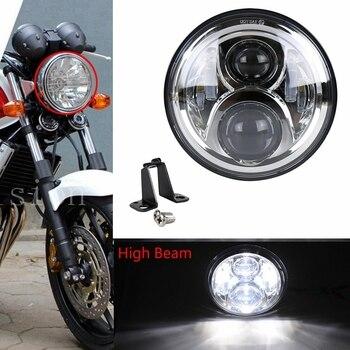7 Inch Motorcycle Bike Round Headlight H4 Head Lamp For Honda CB400  CB500 CB1300 Hornet 250 600 900 VTEC VTR250 Led Headlights Мотоцикл