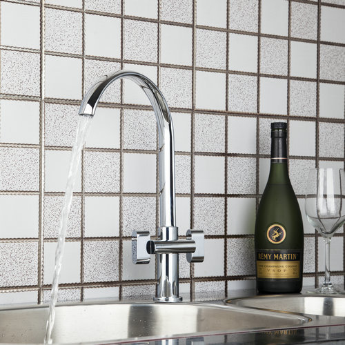 Double Handles Hot/Cold Chrome Plated Water Basin Kitchen Wash Tap+Hose 92461 Basin Sink Water Vessel Lavatory Faucets,Mixer Tap stainless steel material double kitchen sink strainer with flexible hose x19028