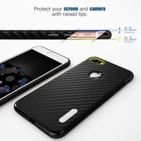 Roybens Vintage Elegant Carbon Fiber Soft Leather Skin Case For IPhone 6 6S Royal Black Silicone