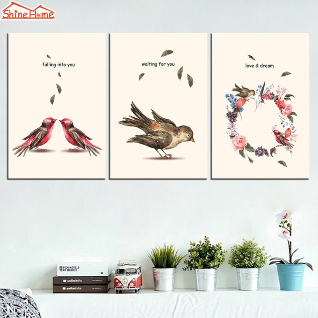 100 Simple Wall Paintings Birds Good Life Simple Nature Green