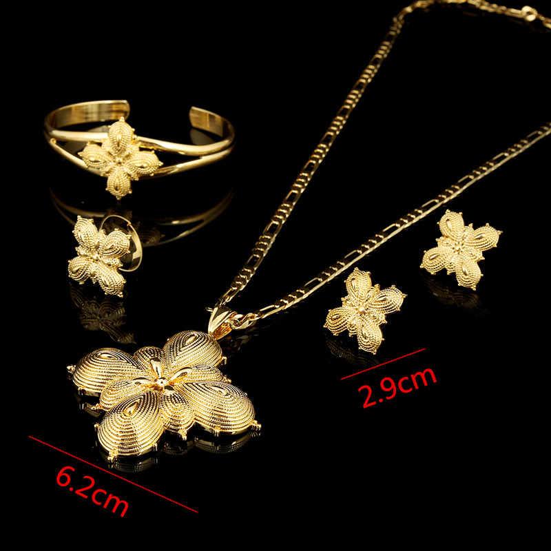 الفتيات bangrui الاثيوبية لون الذهب تحدد الأفريقية/الاثيوبية/eritrean/habesha مجموعات المجوهرات
