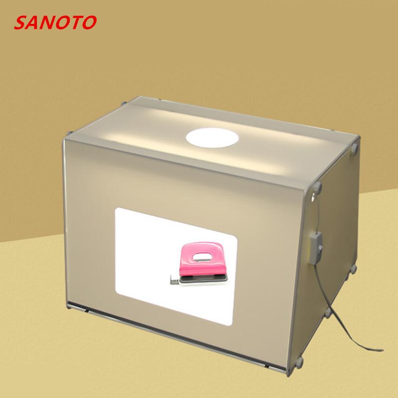 Prix pour Livraison Gratuite par DHL SANOTO marque Portable Mini Photo Studio Photographie Light Box Boîte de Photo MK50 Soft Box Pour 220/110 V