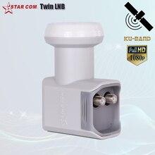 STARCOM receptor de TV LNB Twin, Universal, LNB, para Satelllite, con ruido de 0,1 dB, KU Band LNBF