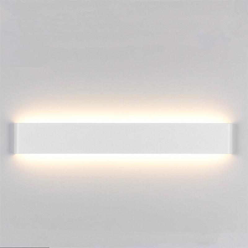 ФОТО 24CM 6W Creative Modern Minimalist Aluminum LED Wall Lamp Bedside Hallway Bathroom Light Light Led Bathroom Wall Lamp Mirror