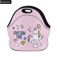 free shipping horse bolsa termica lancheira neoprene bread lunch bag coffee beer thermal bag lunch boxes women kids snacks tote