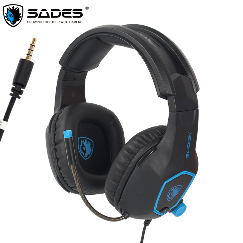 SADES SA818 Computer Gaming Headphones PC Gamer Headset for PS4 New Xbox one Controller Laptop Mobile Phone with Mic Bass Casque xiberia mg 1 in ear gaming headphonnes earphones for computer ps4 xbox one phone pc gamer casque deep bass game headset with mic