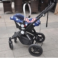 On-board basket type children baby car seat shopping basket Can pick cart