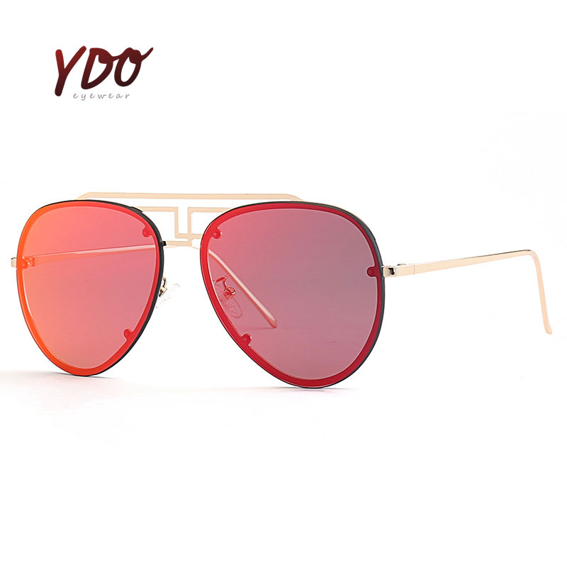 8ec2eee7782 Best buy New Metal Frame Women Fashion Sunglasses Geometry Double Bridge  Personality Brand Design Sunglasses Mirror Glasses UV400 YDO1087 online  cheap