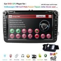 Аудио автомобильный DVD плеер gps радио для VW GOLF 6 Polo Bora JETTA B6 PASSAT Tiguan; Skoda OCTAVIA SD Руль Bluetooth DAB +