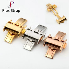 14 18 mm Watches Strap Butterfly Buckle Deployment for Longines Watch Band Clasp Accessories Stainless Steel