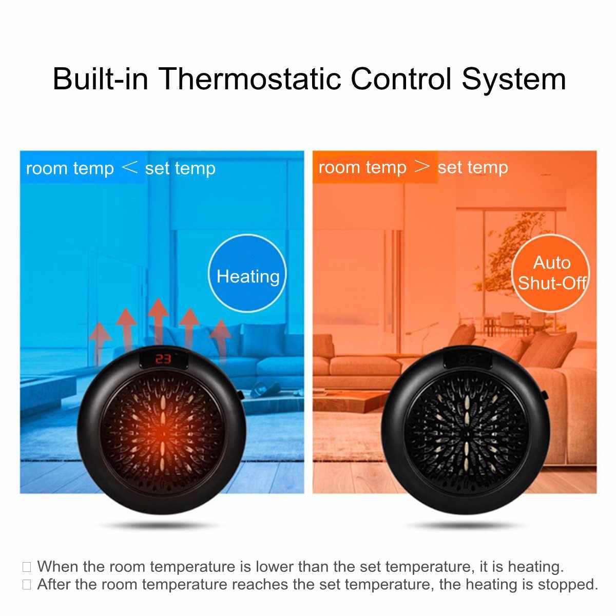 Chauffage électrique Mini ventilateur chauffage bureau ménage mur pratique chauffage poêle radiateur hiver corps plus chaud céramique Machine 900W