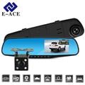 E-ACE Full HD 1080 P Автомобильный Видеорегистратор Камеры Авто 4.3 Дюймов Зеркало Заднего Вида Цифровой Видео Рекордер с Двумя Объективами Registratory Видеокамеры