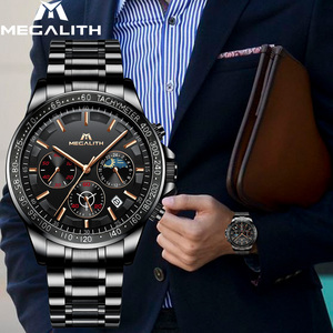 Image 5 - MEGALITH Drop Shipping Mens Watches Top Brand Luxury Full Steel Quartz Clock Male Army Military Watches Men Relogio Masculino