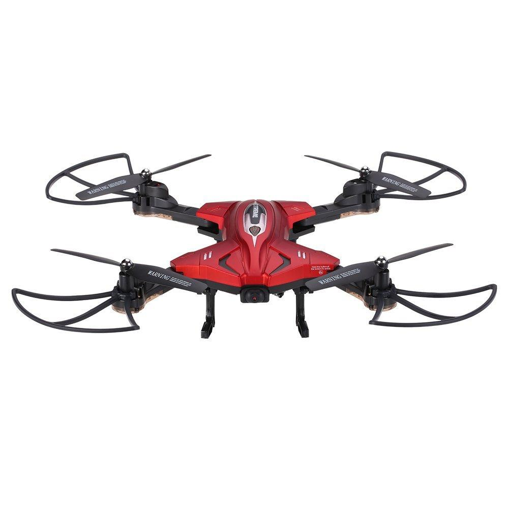 LeadingStar Foldable RC Quadcopter Drone Remote Controller LED 4 Channels Altitude Hold with WIFI Camera Red zk49 new flying ball 415b 415c mini drone with 0 3mp camera foldable rc drone 2 4g 4ch rc helicopter headless dron altitude hold quad