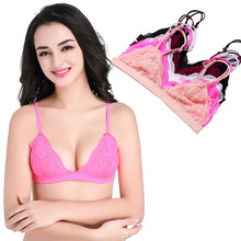 Lace Bralette Bralet Sexy Crop Top Bra Unpadded Wireless Brassiere Women See Through Seamless Intimates Camis