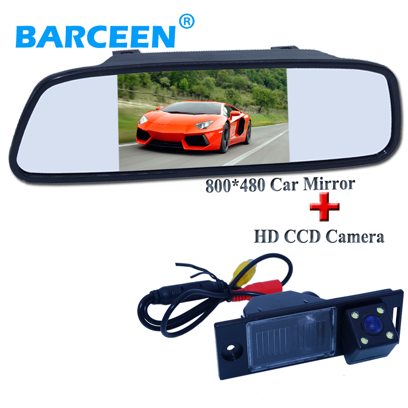 Car auto rear camera and mirror 5plastic shell car screen monitor water proof for Hyundai ix35 2014
