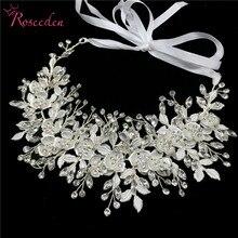 愛きょう女性の結婚式のクリスタルヘッドバンドヘッドピースのヘアアクセサリージュエリー花嫁の花のラインストーンティアラ RE3247