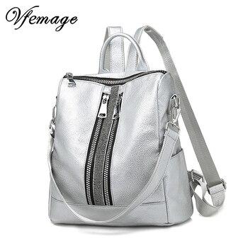 c02a8963c0bf Новый многофункциональный женский кожаный рюкзак большой прохладный школьные  сумки для девочек модные женский рюкзак мешок Dos 2019 mochila