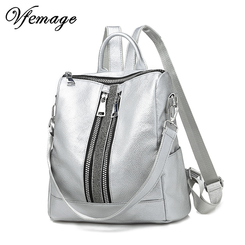 New Multifunction Backpack Women Leather Backpack Large Cool Schoolbags For Girls Fashion Female Bagpack Sac A Dos 2019 Mochila