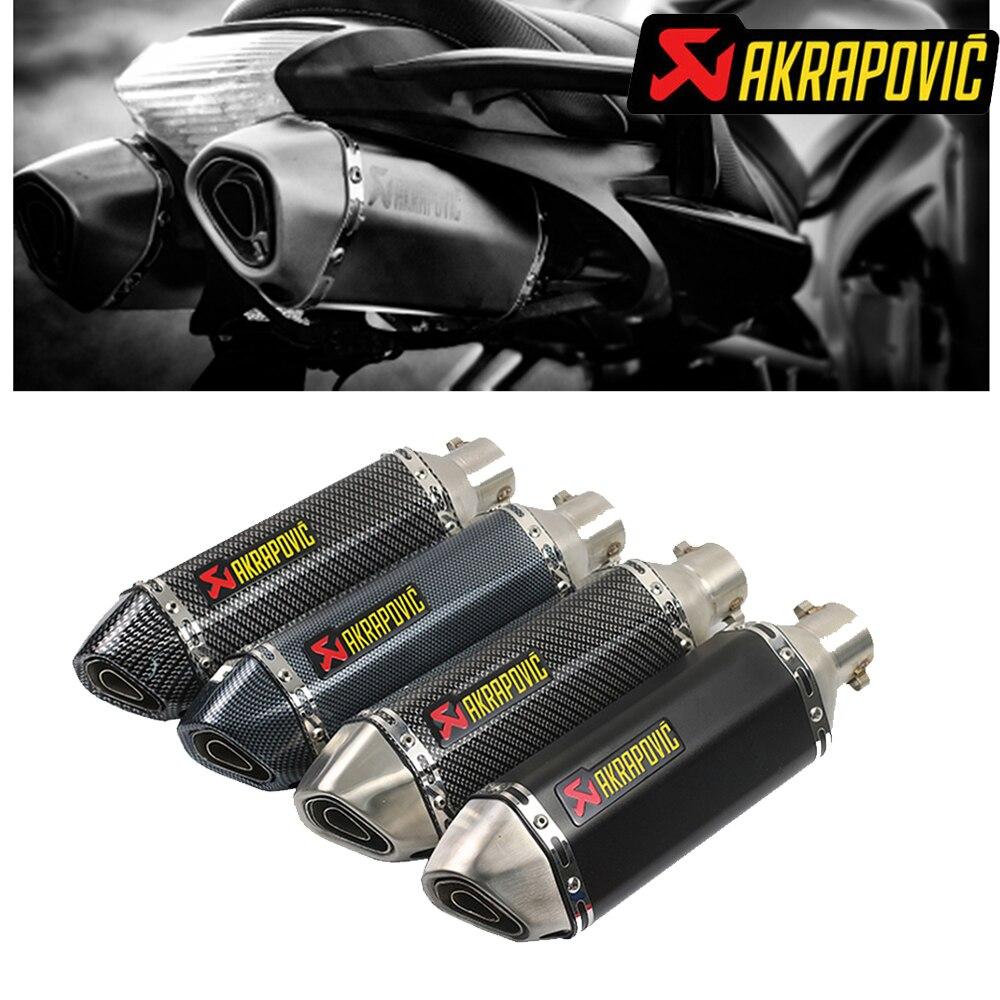 Akrapovic échappement moto avec db tueur silencieux pour vespa gts x max 250 xvs 1100 bmw k1200s yamaha r6 & H043