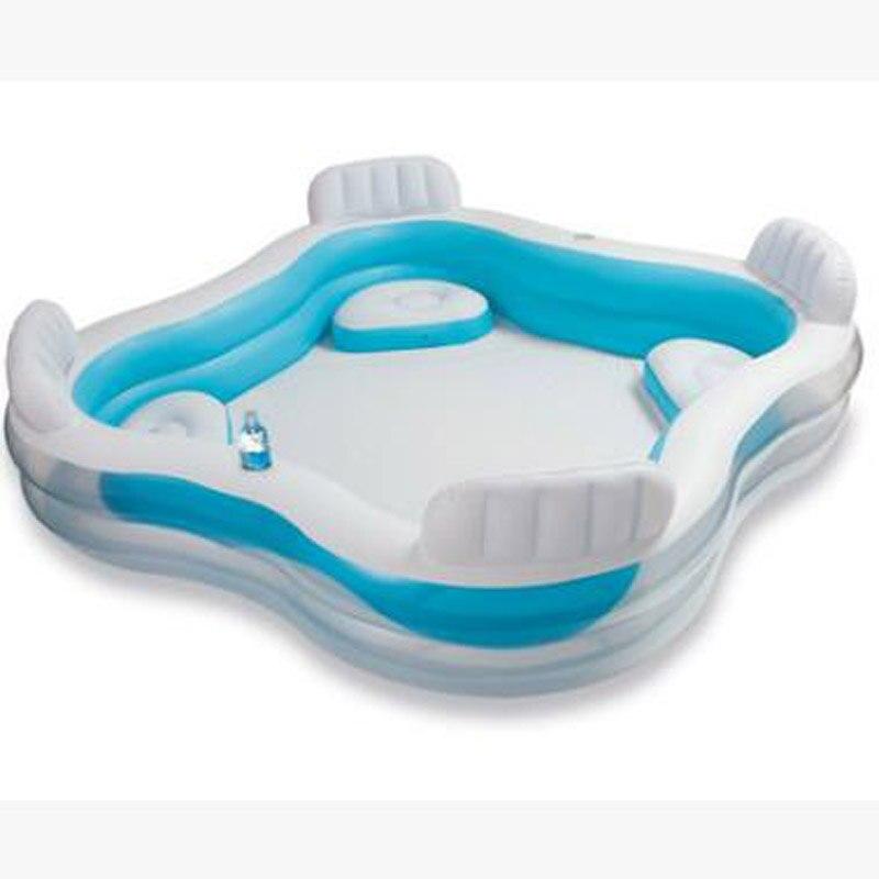 INTEX siège arrière pataugeoire surdimensionné famille piscine piscine piscina zwembad colchonetas inflables piscina pi - 2