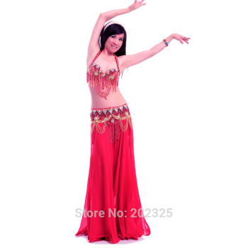 Free shipping Belly dance costume suit Bellydance Cloths Cloth bellydancing set performance/practice: Bra & belt skirt 7153